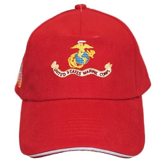 Military USMC Marines Marine Corps Red Vintage EGA Ball Cap Hat