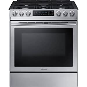 "Samsung 30"" Stainless Steel Slide-In Gas Range"