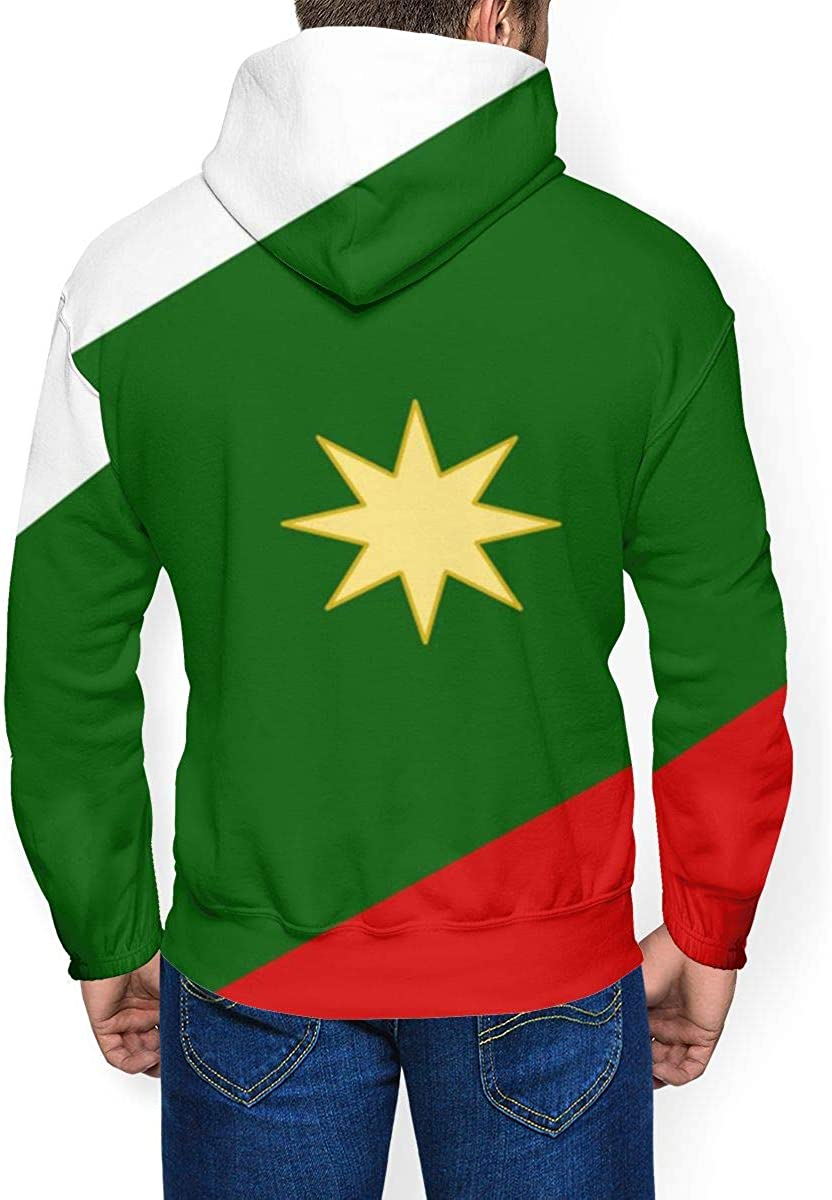 RZM YLY Mexican Flag Printed Hoodies for Men Pullover Hooded Shirts