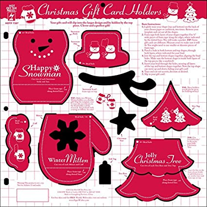Amazon Com Hot Off The Press Christmas Gift Card Holders Template