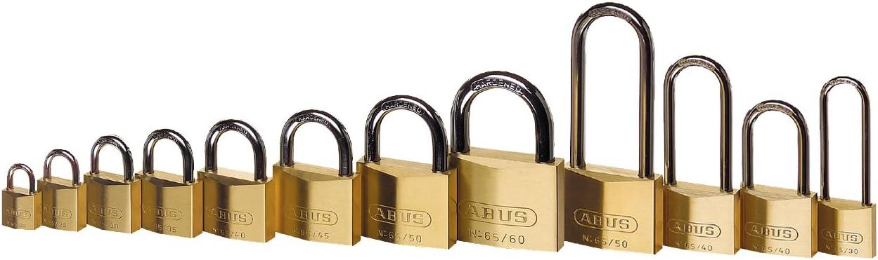 Or Abus 04781 65//50 Cadenas en Laiton de 50mm avec Haute Anse de 80mm 0002955 50