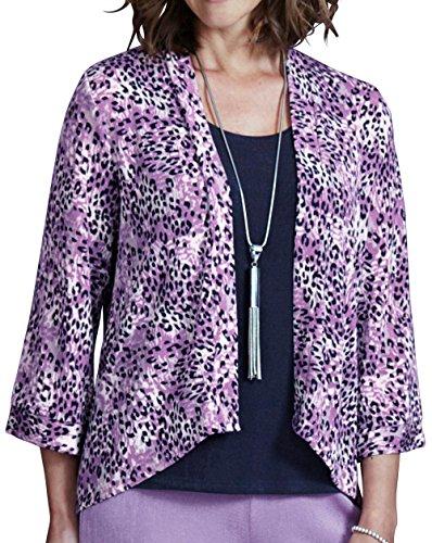 Womens Slinky Plain Orchid Kimono Jacket r7rqUwA