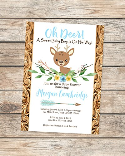 Amazon Deer Baby Shower Invitation Oh Deer Baby Shower