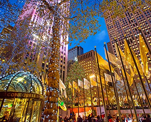 Springbok Puzzles - Rockefeller Center - 1000 Piece Jigsaw Puzzle - Large 30 Inches by 24 Inches Puzzle - Made in USA - Unique Cut Interlocking Pieces
