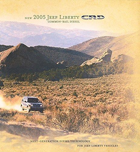 2005 JEEP LIBERTY CRD VINTAGE COLOR SALES BROCHURE - NICE ORIGINAL - USA !!