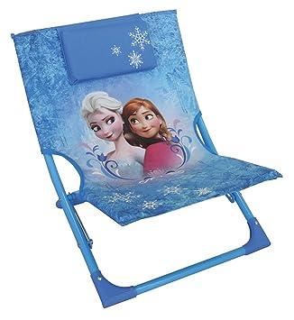 Fun House 712353 Frozen - Tumbona Plegable para niños, Acero, Azul, 39 x 46 x 43 cm