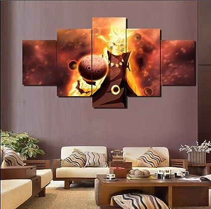 Amazon.com: KLKLDD HD Printed 5 Piece Canvas Art Naruto ...