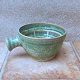 Apothecary shaving lather soap shave bowl hand thrown in stoneware handmade pottery wheelthrown ceramic