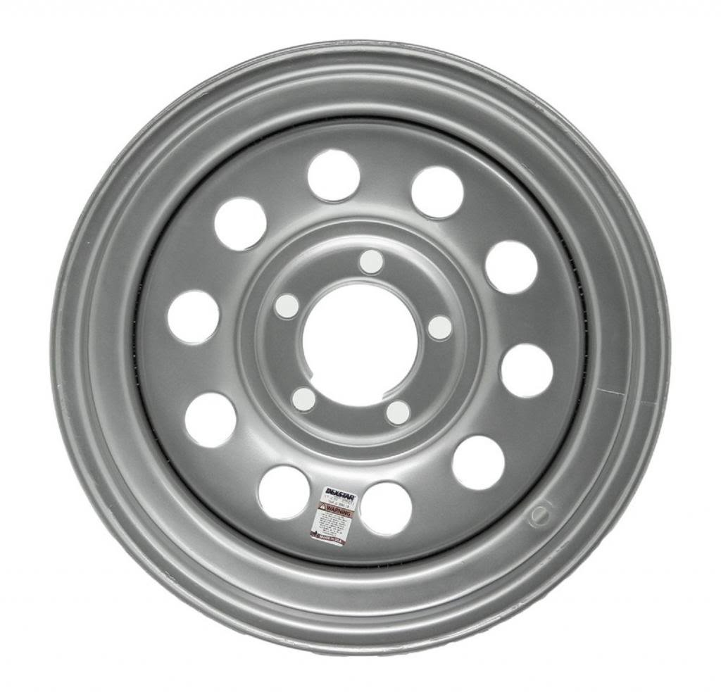 eCustomRim Trailer Wheel Rim 15x5-5 On 5 in. 5 Hole Lug Modular Silver Gray by eCustomRim (Image #1)