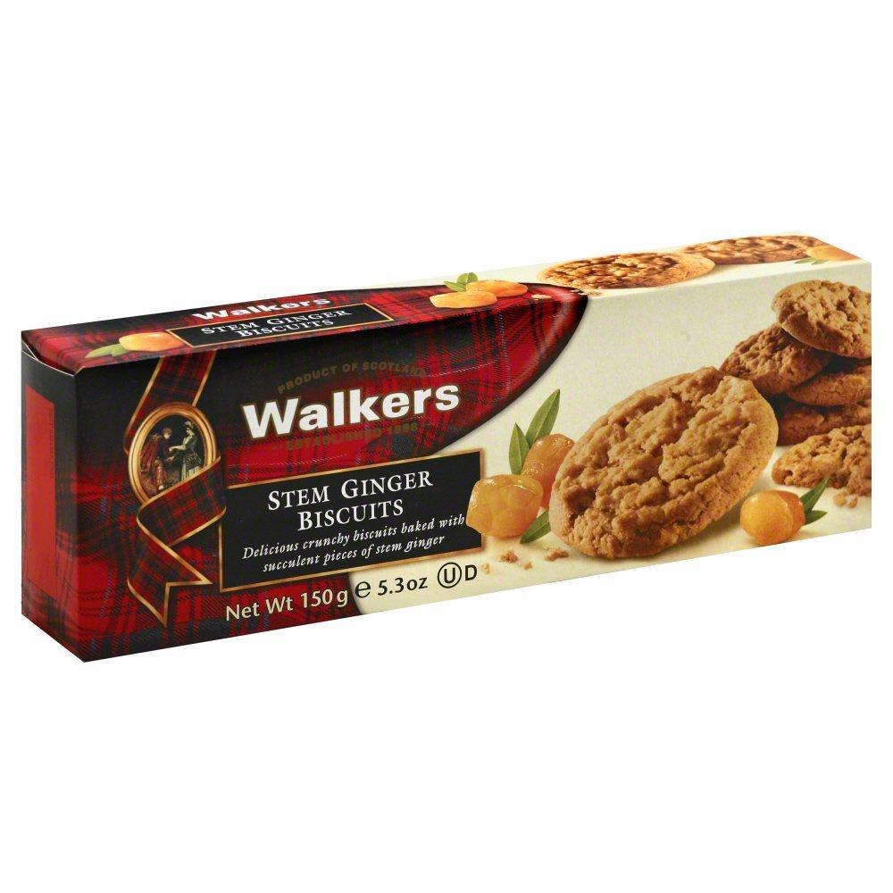 Walkers Ginger Stem Biscuits 5.3 oz. (Pack of 12)