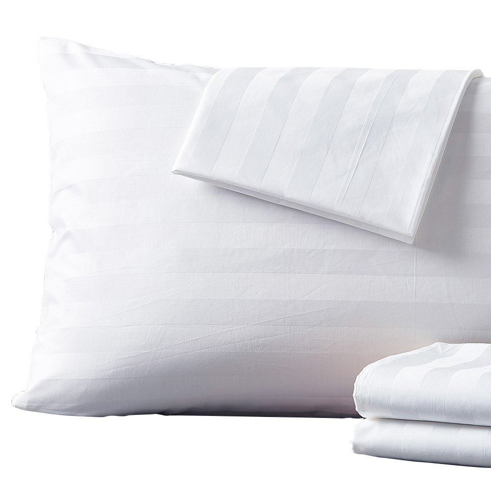 Shunjie.Home 4-Pack 100% Cotton Pillow Protector 400 Thread Count Zippered Style Pillow Cover Hypoallergenic Dust Mite & Bed Bug Resistant White - (Standard)