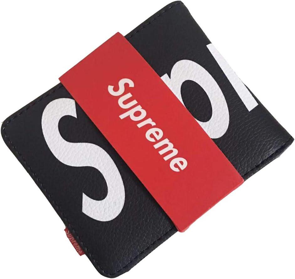 SkyMdns Dope Streetwear Bifold Wallet with Money Clip RFID Blocking Slim Design Front Pocket Minimalist Purse Black