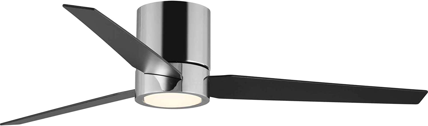 Progress Lighting P2588-1530K Braden 56inch Indoor Hugger Ceiling Fan, Polished Chrome
