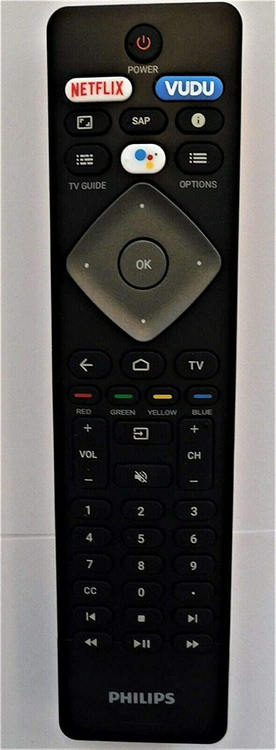Philips NH800UP Android TV Remote & Google Voice Assistance 43PFL5604/F7, 43PFL5704/F7, 50PFL5604/F7, 50PFL5704/F7, 55PFL5604/F7, 55PFL5704/F7, 65PFL5504/F7, 65PFL5604/F7, 65PFL5704/F7