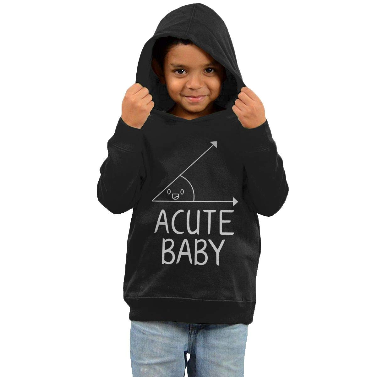 GUOZX Childrens Hooded Sweater Acute Baby Girl Sweater Black