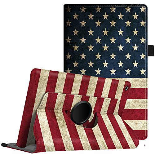 Fintie Rotating Case for All-New Amazon Fire HD 8 2018 2017 2016, 360 Degree Rotating Cover Swivel Stand Auto Wake/Sleep for Fire HD 8 (8th 7th 6th Gen, 2018 2017 2016 Release), US Flag
