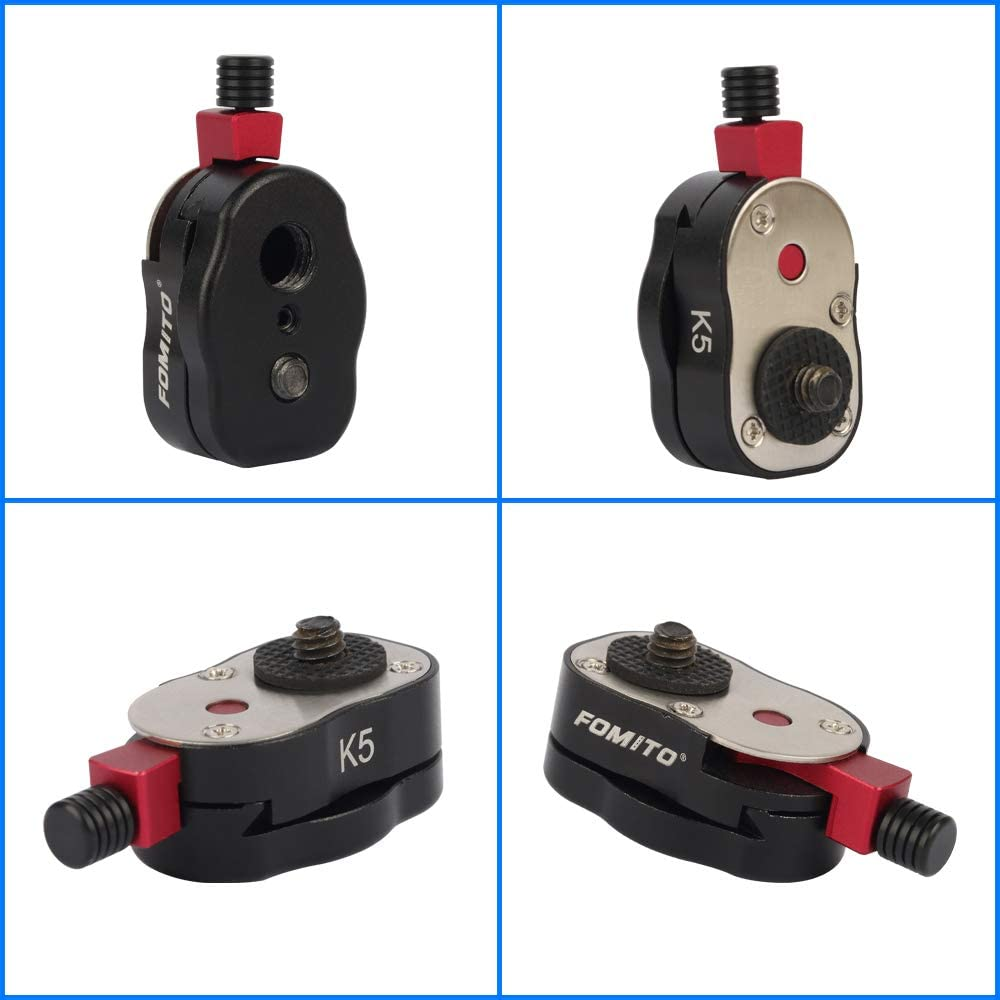 Fomito Quick Release Plate for Camera Video Monitor Margic Arm Flash Bracket