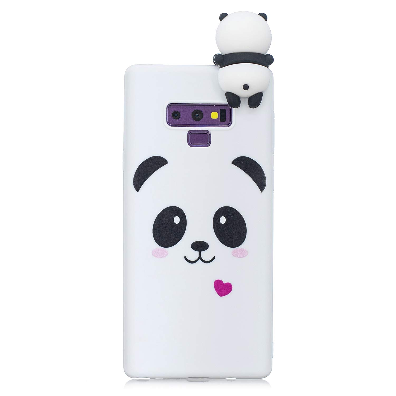HopMore Coque Samsung Galaxy A6 2018 Silicone Souple 3D Design Motif Panda Animal Drô le Mignonne Etui Samsung A6 É tui Antichoc Mince Fine Slim Case Housse Protection pour Fille Femme - Panda Blanc
