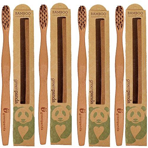 Green-Panda-Natural-Bamboo-Toothbrush-Pack-of-4