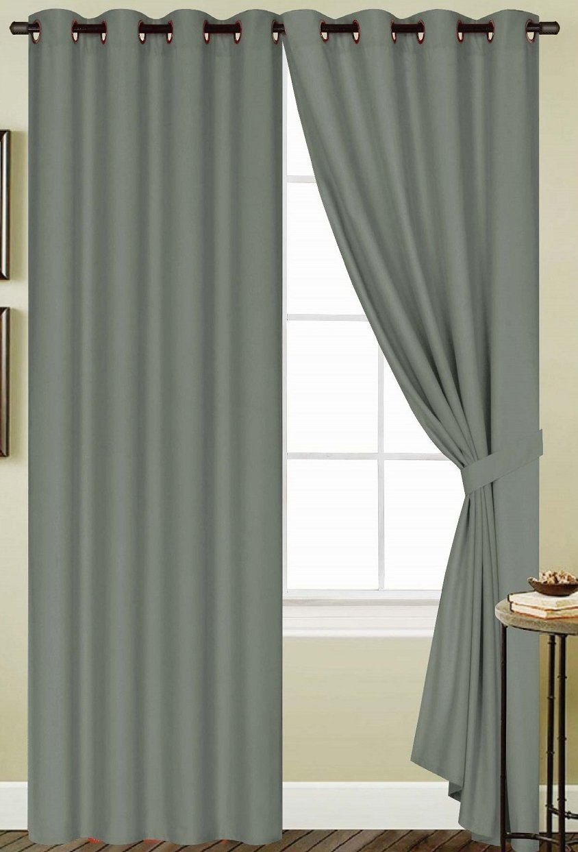 RT Designers Collection Kennedy Grommet Curtain Panel 54 x 63 in Navy