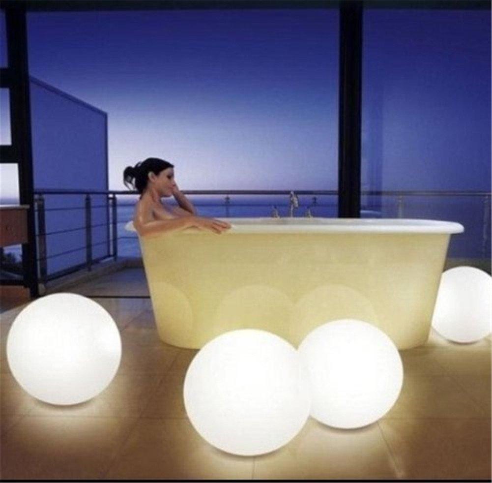 ボールLEDライト防水、amzstar 7.9-inch LEDカラー変更フローティングボール防水ムードライト庭装飾点滅ボールLED照明製品のプール、池( Pack of 2 ) AMZSTAR  4個パック B071ZGGSV3