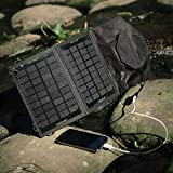 Poweradd 5V 7W Solar Panel Power Bank Mobile External Battery Portable Charger