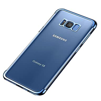 Qissy Samsung Galaxy S8 Carcasa Ultra-Delgado Bumper Funda para Samsung Galaxy S8 Plus Galvanoplastia Casco Dura TPU for Samsung Galaxy S8 /S8 +
