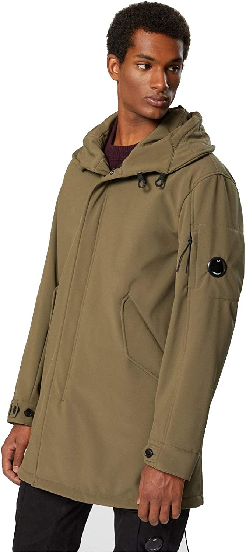 C.P COMPANY Giubbino Uomo Long Jacket Oliva AI19