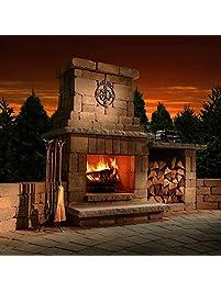 Necessories Colonial Outdoor Fireplace In Desert