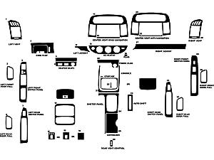 Rdash Dash Kit Decal Trim for Toyota Camry 2002-2006 - Wood Grain (Burlwood Matte)