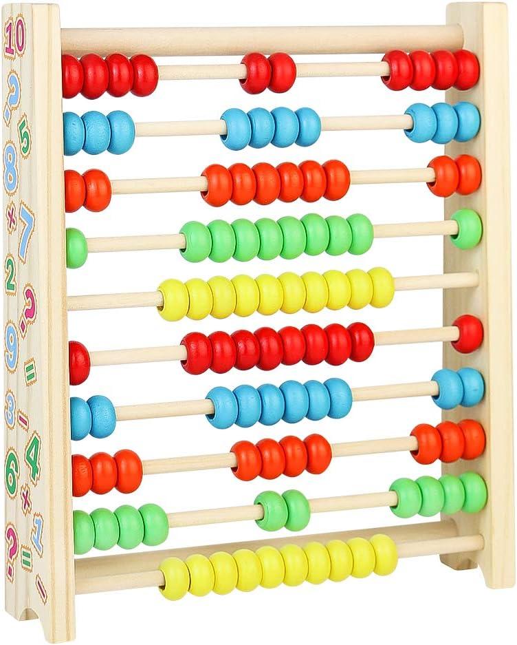 Geschenke f/ür Kinder Amasawa Abakus Rechenschieber aus Holz,Abakus Rechenschieber Mathematik HolzSpielzeug,Zum Z/ählen und Rechnen