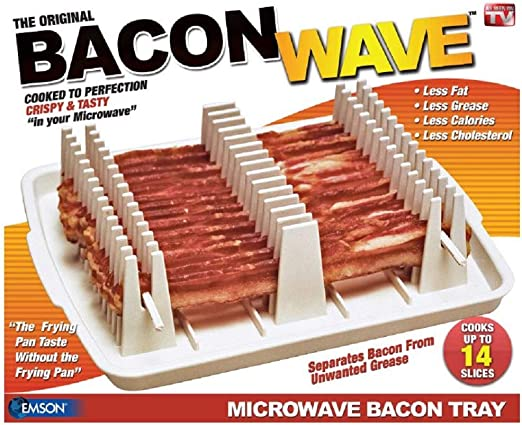 Amazon.com: Emson Bacon Wave - Charola para cocinar tocino ...