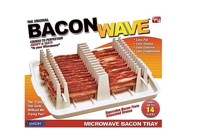 Emson Bacon Wave, Microwave Bacon Cooker, New