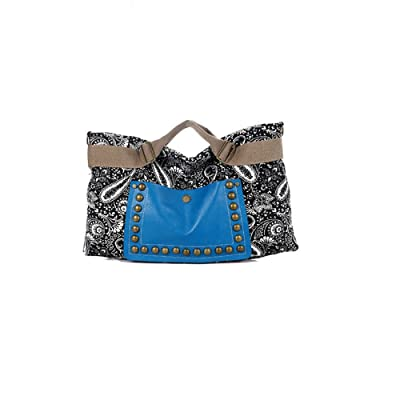 Women Retro National Rivet Bag New Hobo Satchel Fashion Tote Messenger Leather Canvas Purse Shoulder Handbag for Women