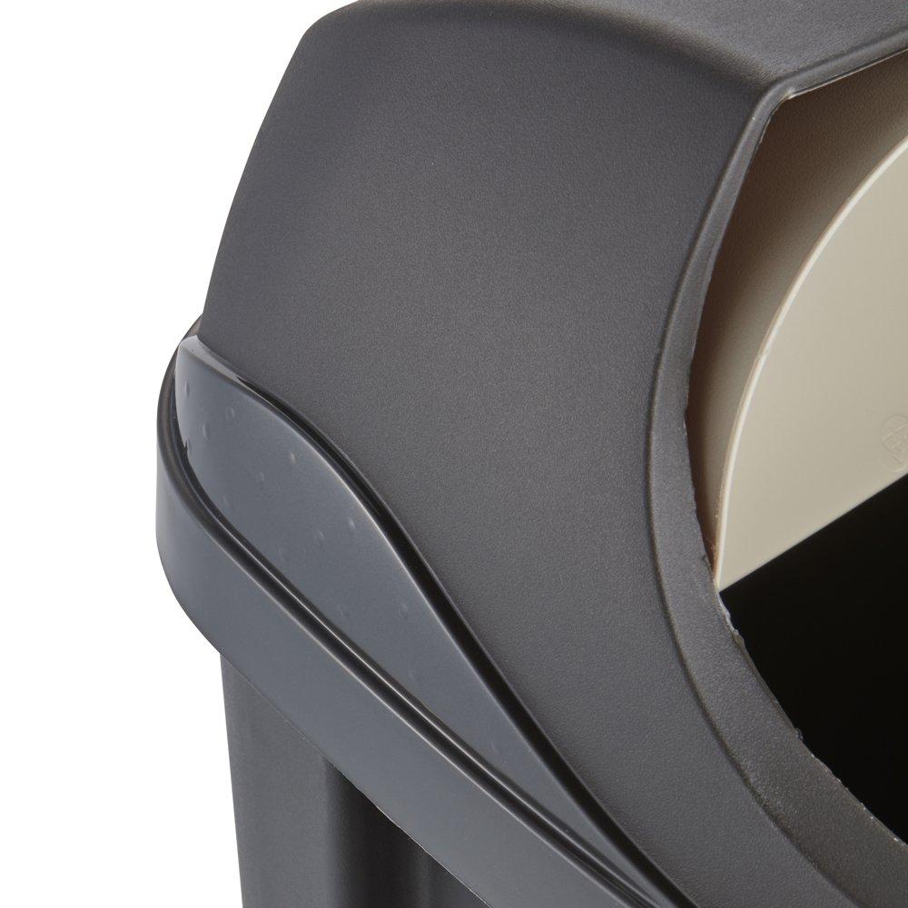 OKT 2053713 Poubelle Roll-Top 50 l en Graphite//cr/ème Plastique