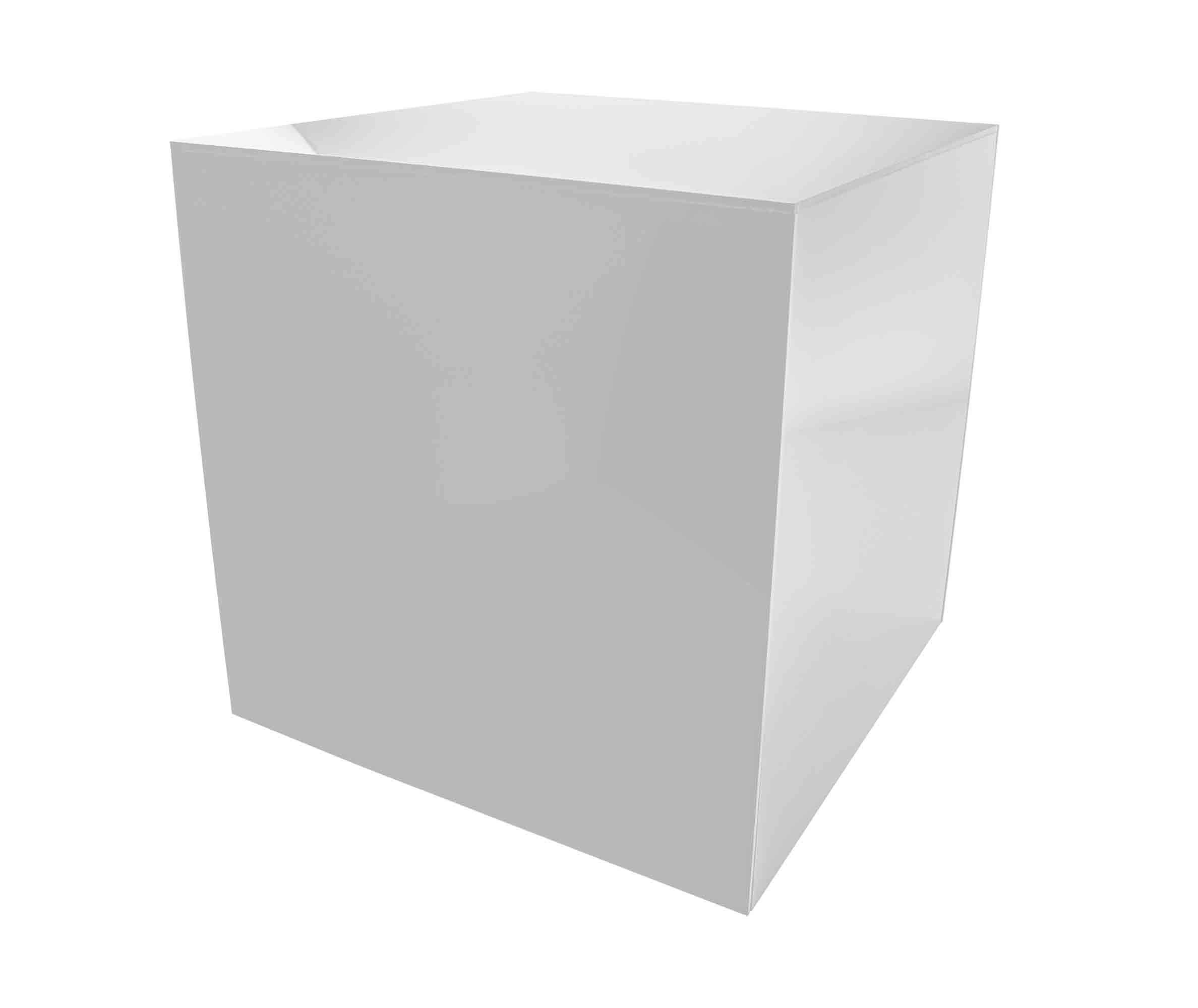 Marketing Holders Acrylic Jewelry Display Box Cube Toys Trinkets Collectible Items Safety Dust Cover Square 5 Sided Show Case Art Easel Pedestal Display 14''w x 14''h x 14''d White Pack of 1 by Marketing Holders (Image #1)