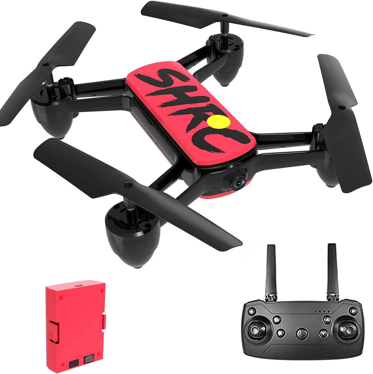 HR GPS Drone for Adults,Foldable Drones with 4K FHD Camera Live Video And GPS Return Home,Quadcopter with Altitude Hold,Follow Me,Includes Carrying Bag