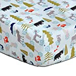 Woodland-Dreams-Cotton-Baby-Fitted-Crib-Sheet-by-The-Peanut-Shell