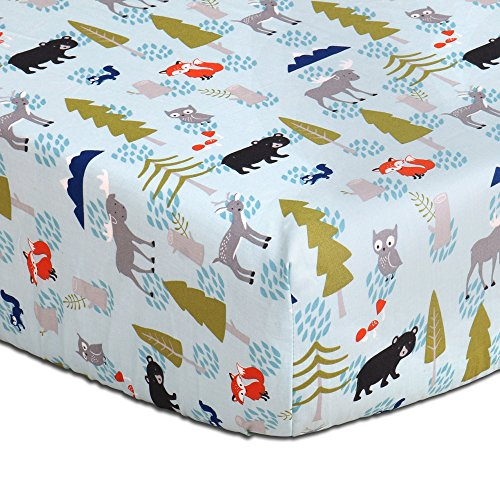 Dreams Sheet (Woodland Dreams Cotton Baby Fitted Crib Sheet by The Peanut Shell)