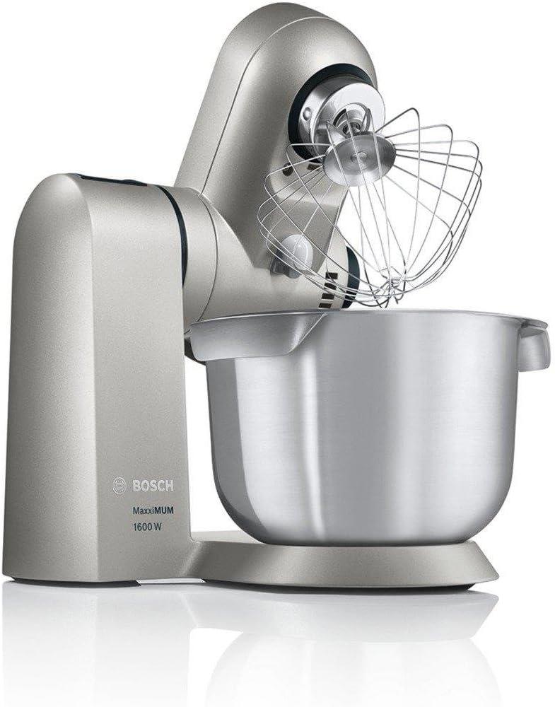 Bosch MUMXL10T - Robot de cocina (5,4 L, Plata, 1,1 m, Acero inoxidable, Metal, 1600 W): Amazon.es: Hogar
