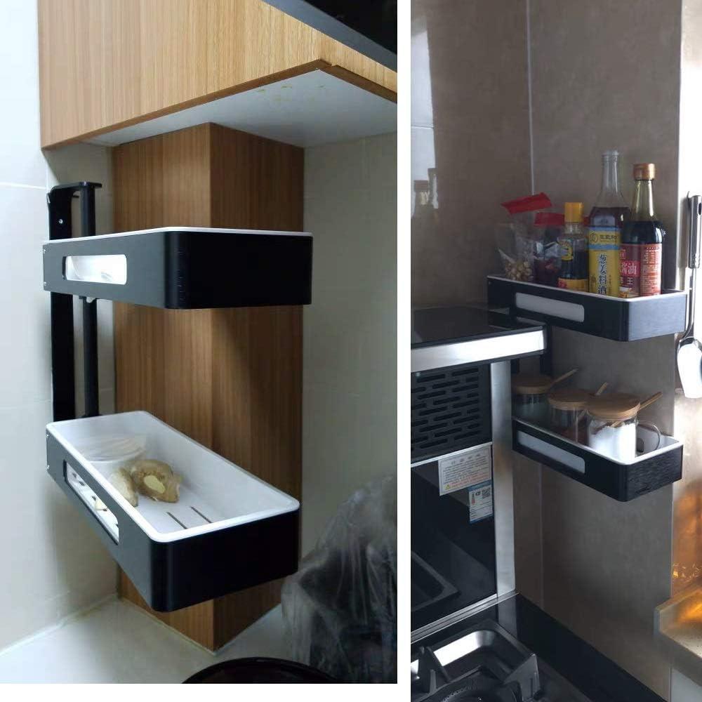 Estante, Rack De Almacenamiento para Esquina De Cocina, Rack Giratorio para Colgar En La Pared, Rack De Almacenamiento para Baño (Diseño : Cuatro Capas): Amazon.es: Hogar