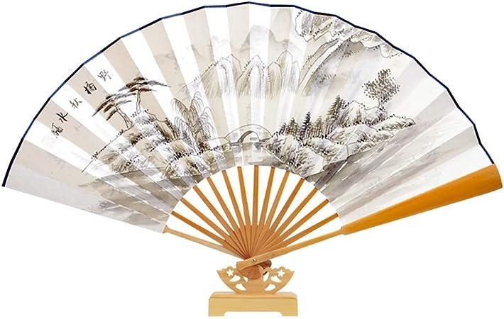 TD Fans Men's Folding Fan Handmade Fan Hand Held Fans Process Antiquity  Gift (color : E): Amazon.co.uk: Kitchen & Home