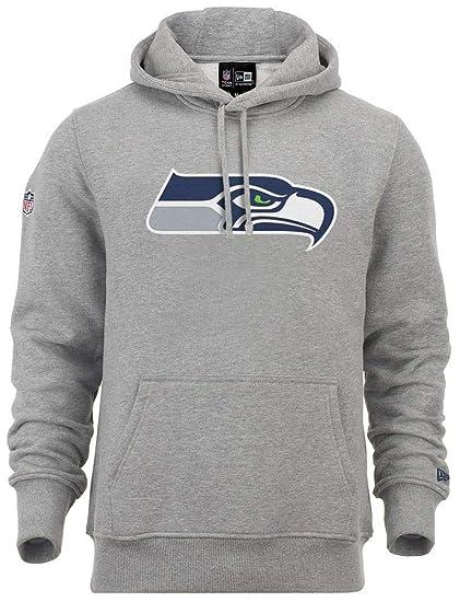 New Era - NFL Seattle Seahawks Team Logo Hoodie - Grey  Amazon.co.uk ... 925080889