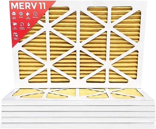 MPR 1000 Pleated AC Furnace Air Filter 6 Pack 24x24x1 MERV 11