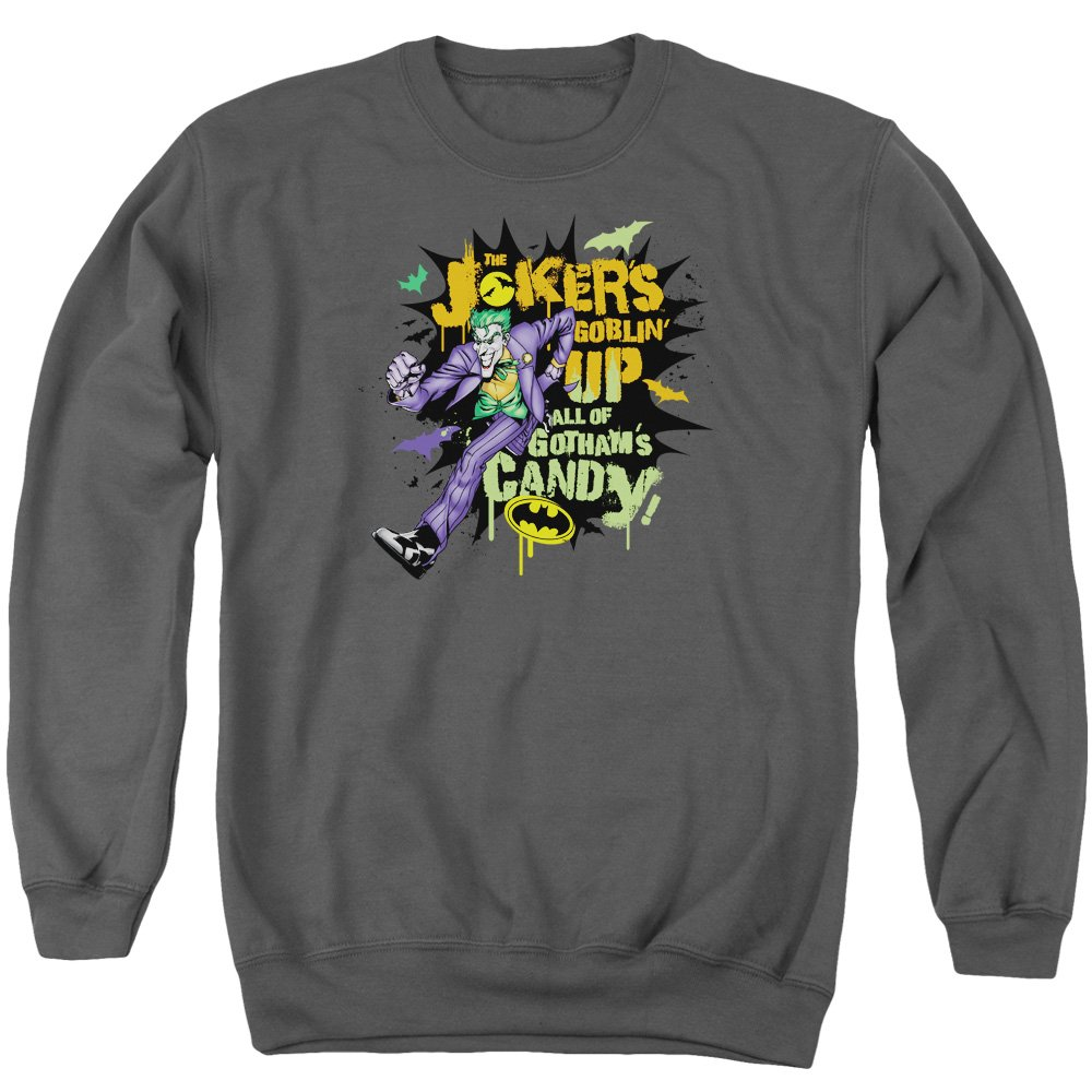 MMM Merchandising Batman Mens Goblin Candy Sweater