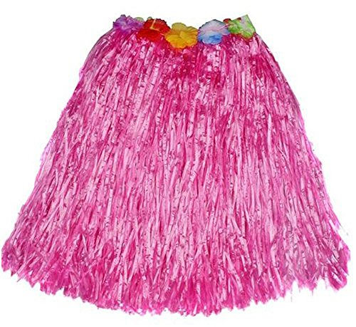 Creative Converting Grass Skirt with Flowers, Luau