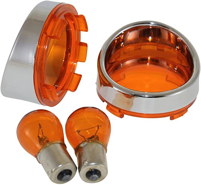 Blinkergläser Set Orange Gelb 2 Stück Blinkerglas Bullet Blinker Für Harley Davidson Auto