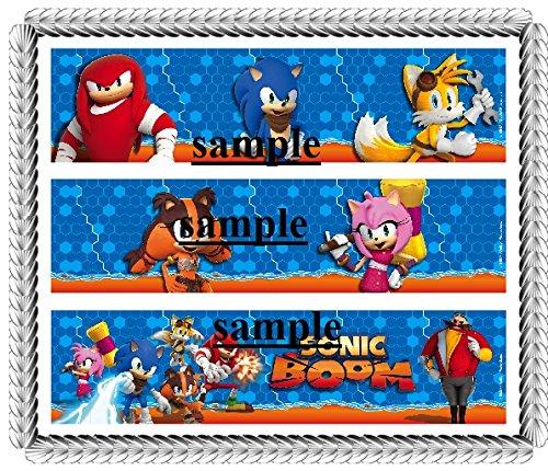 Sonic The Hedgehog Boom Designer Strips Edible Cake Border Design Toppers ()