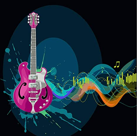 Pintura por número Arte Pintura por número Tema Fresco Música Dinámica Viento Tinta Guitarra Digital Pintura