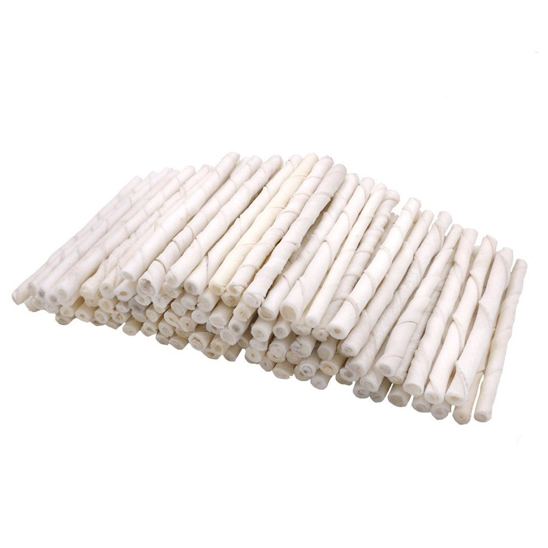Mainstreet 60-Count 5'' Twists Sticks 100% Natural Rawhide Dog Treats For Small/Medium Dog Jerky Twists Chew 12.7oz